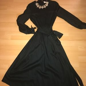 Zara Green Midi Dress small